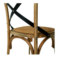 "CROSSED BACK CHAIR ""SMOKED OAK"""