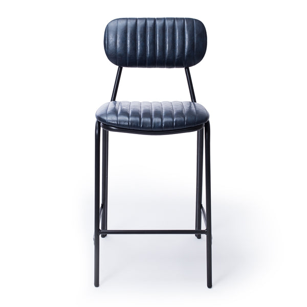 retro bar stool blue p.u