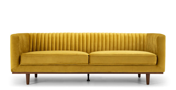 madagascar 3 seater sofa golden