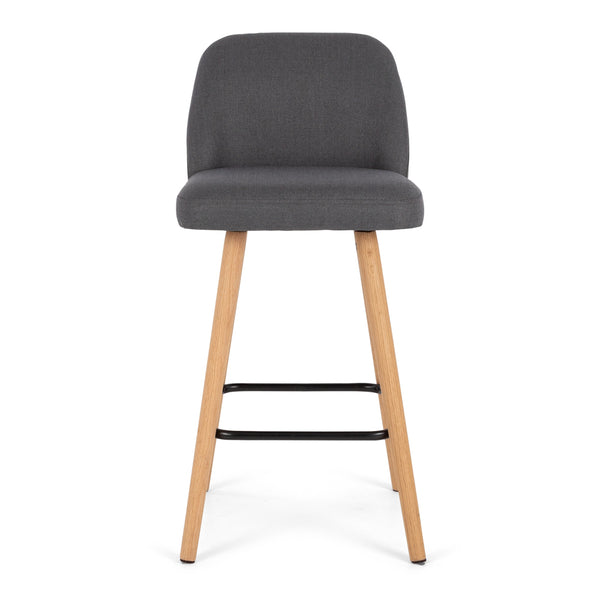 nero bar stool dark grey