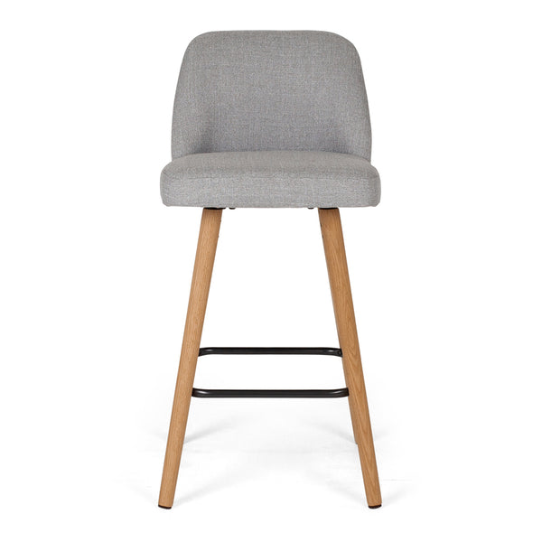 nero bar stool light grey