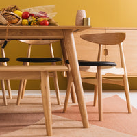 "OSLO DINING CHAIR ""NATURAL"""