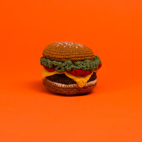 Hand Knit Burger Toy