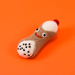 Hand Knit Cannoli Toy