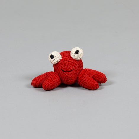 Cotton Crochet Crab Toy
