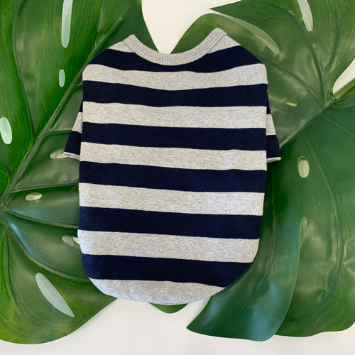 Striped Sweater Grey/Blue
