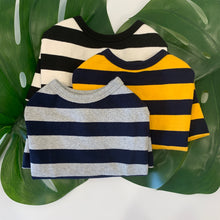 Load image into Gallery viewer, Striped Sweater Yellow/Blue