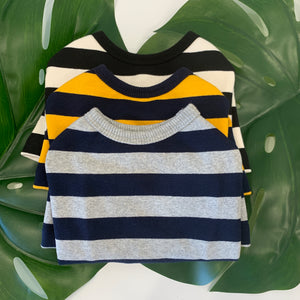Striped Sweater Black/White