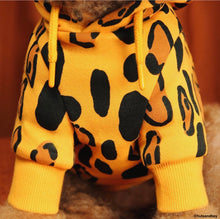 Load image into Gallery viewer, Yellow Animal Print Hoodie