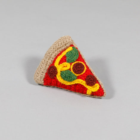 Hand Knit Pizza Toy