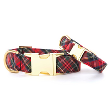 Load image into Gallery viewer, Tartan Plaid Dog Collar