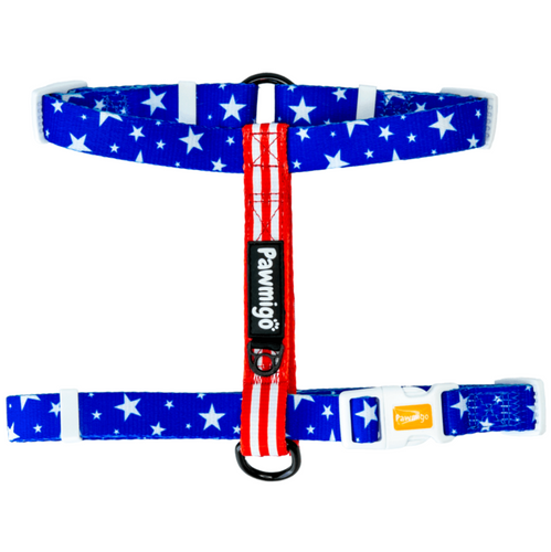 Red, White, and Bark Free-Fit Harness
