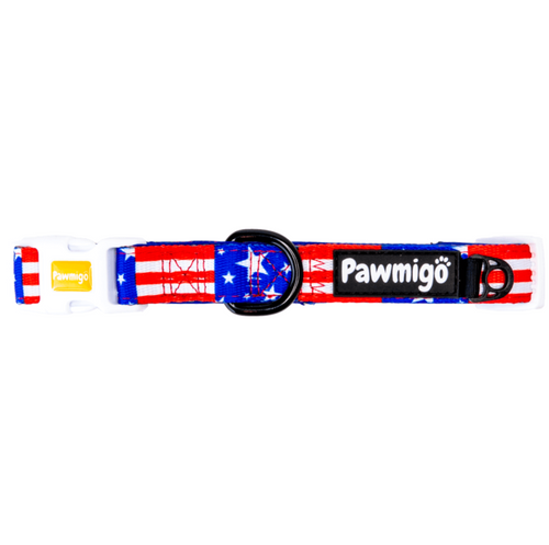 Red, White, and Bark Collar