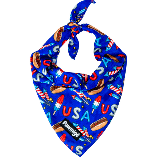 Red, White, and Bark Cooling Bandana