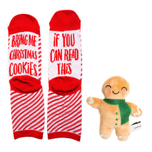 Load image into Gallery viewer, Sock & Dog Toy Gift Set, Christmas Cookies