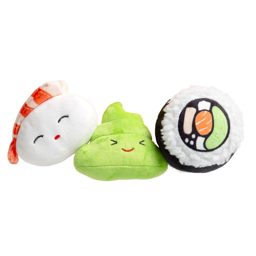 sushi dog toy set