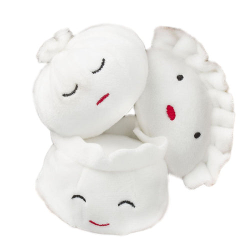 dim sum dumplings dog toy set