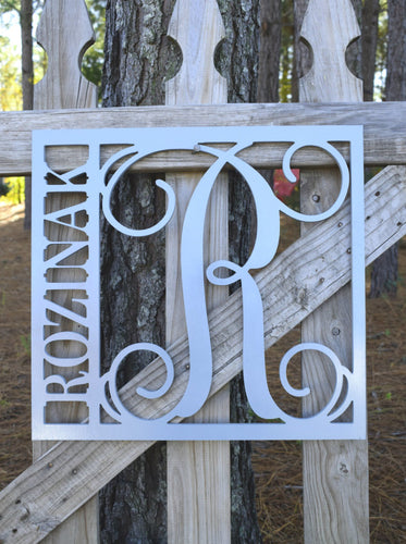 Square Name and Monogram