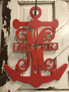 Anchor with Monogram and Family name