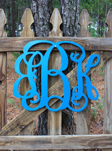 Load image into Gallery viewer, 3 Initial Wood Monogram 12-18""