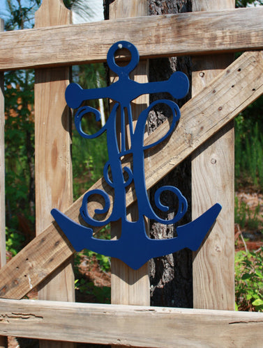 Anchor with Single Vine Monogram