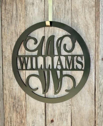 Circle Frame Full Name & Monogram