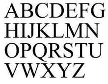 "Load image into Gallery viewer, Single Monogram in Times New Roman Font (12""-22"")"