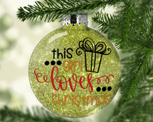 "Load image into Gallery viewer, 3"" Glitter Ornament - Glitter Personalized Ornament - Glitter Decoration - Customized"