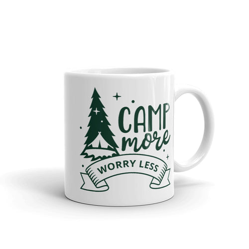 Camp More Worry Less Camping Coffee Mug