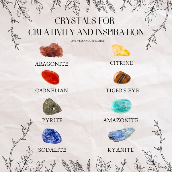 CRYSTALS FOR CREATIVITY AND INSPIRATION - JEWELS AND GEMS