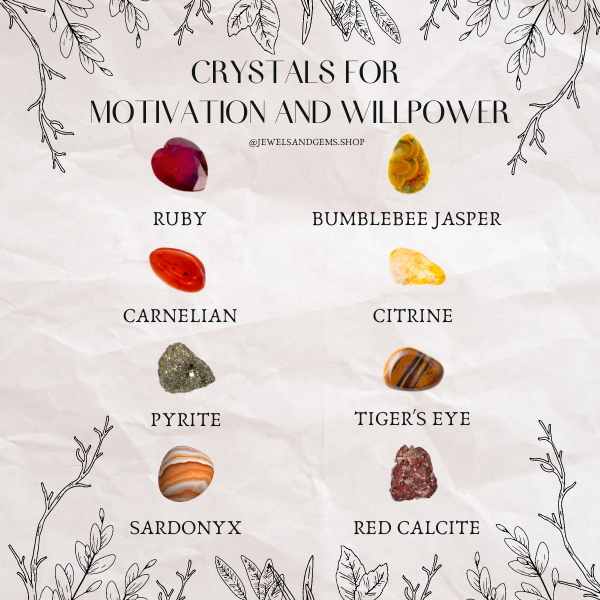 BEST HEALING CRYSTALS FOR MOTIVATION AND WILLPOWER