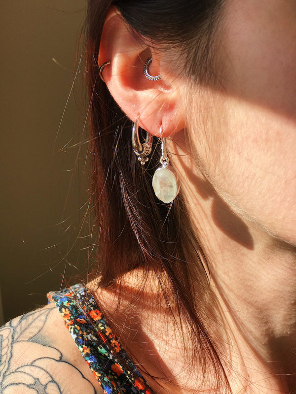 Raw Moonstone Akoni Earrings - Jewels & Gems
