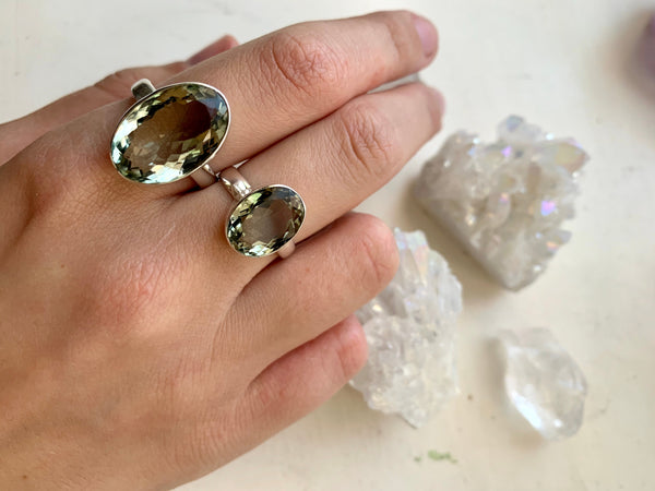Green Amethyst Akoni Ring - Oval - Jewels & Gems