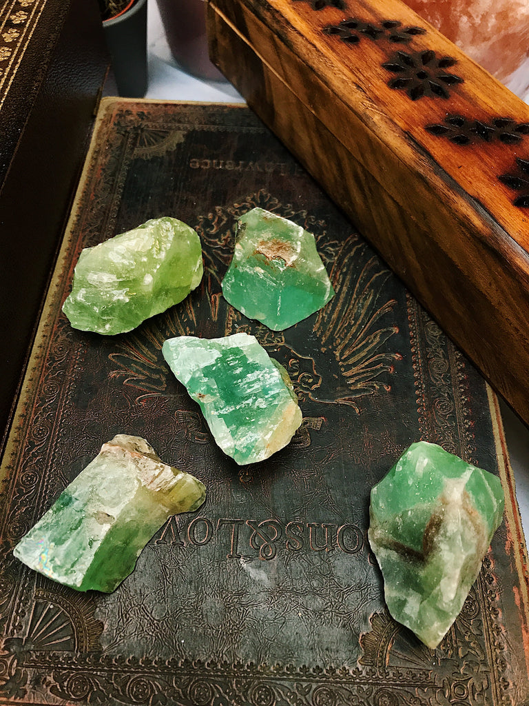 Green Calcite Raw Piece - Jewels & Gems