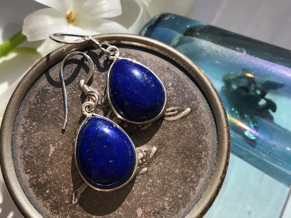 Lapis Lazuli Akoni Earrings  Drop - Jewels & Gems