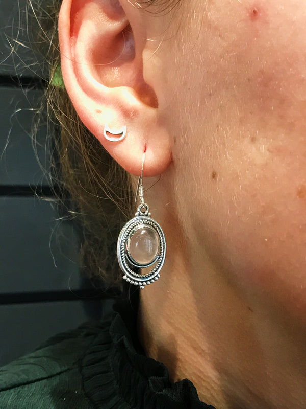 Rose Quartz Odessa Earrings - Jewels & Gems