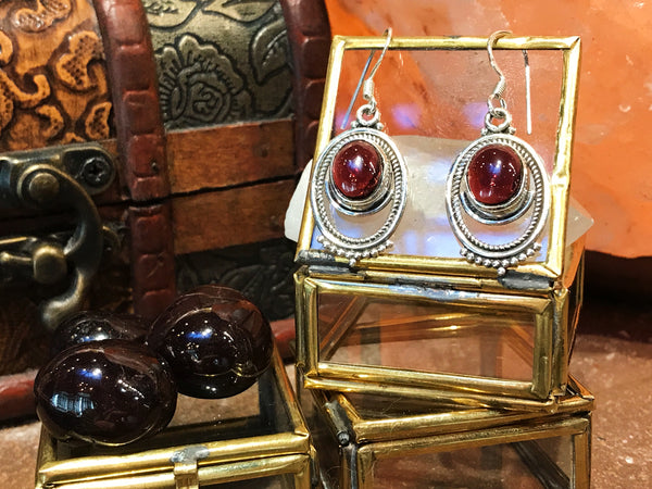 Garnet Odessa Earrings - Jewels & Gems