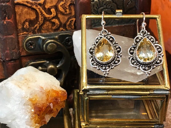 Citrine Nissa Earrings - Jewels & Gems