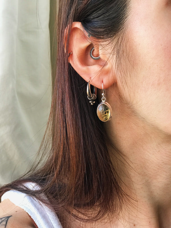 Citrine Ari Earrings Polished - Jewels & Gems