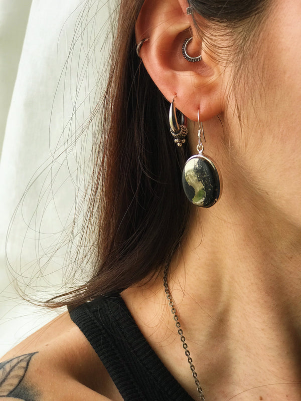 Pyrite with Magnetite Akoni Earrings - Jewels & Gems
