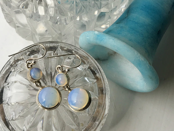 Opalite Ariel Earrings - Double Drop - Jewels & Gems