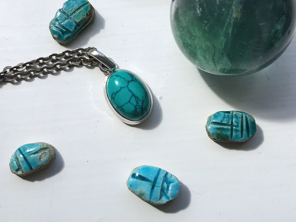 Turquoise Ari Pendant - Small Oval - Jewels & Gems