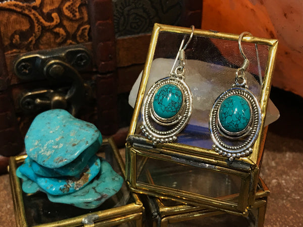 Turquoise Odessa Earrings - Jewels & Gems