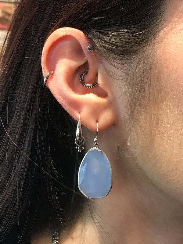 Blue Chalcedony Adora Earrings - Jewels & Gems