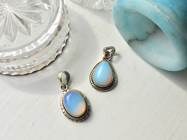 Opalite Designed Pendant Oval & Tear Drop - Jewels & Gems