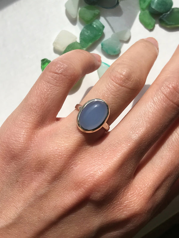 Blue Chalcedony Ariel Ring - Jewels & Gems