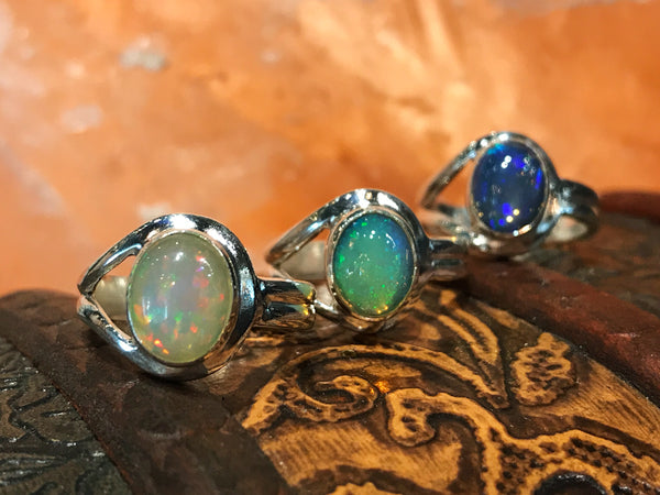 Ethiopian Opal Signe Ring - Jewels & Gems