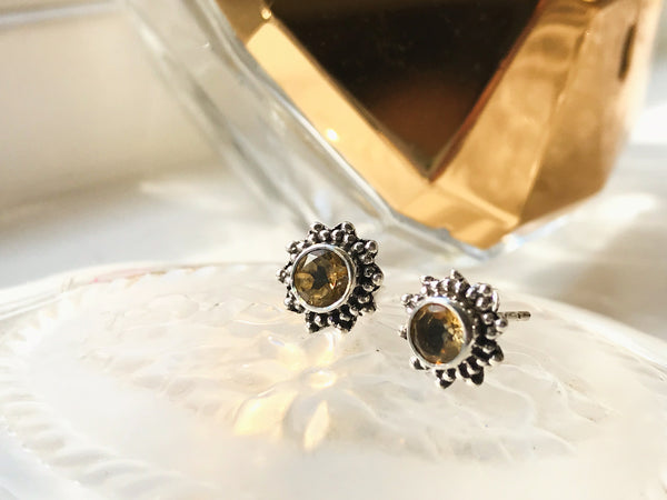 Citrine Sole Studs - Jewels & Gems
