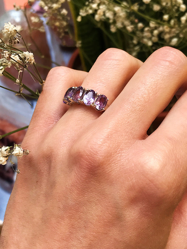 Amethyst Astrid Ring - Jewels & Gems