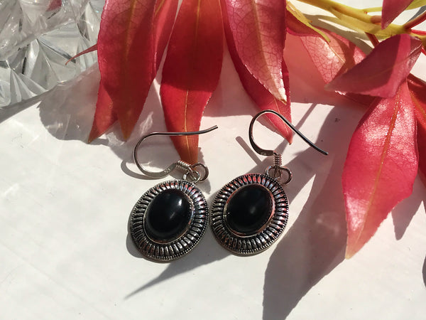 Onyx Odalis Earrings - Jewels & Gems